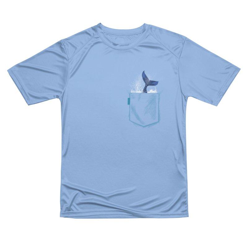 Meanwhale in my pocket Men's Performance T-Shirt by kooky love's Artist Shop