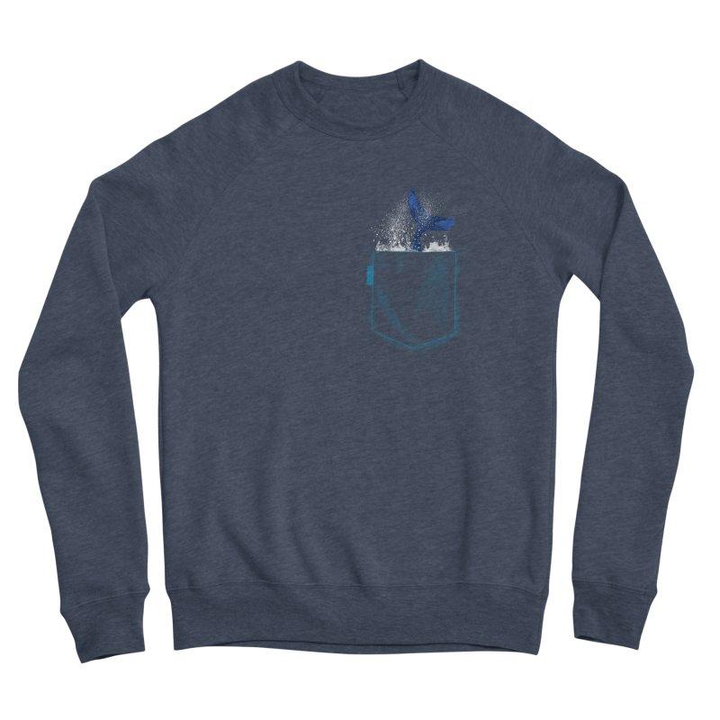 Meanwhale in my pocket Men's Sponge Fleece Sweatshirt by kooky love's Artist Shop