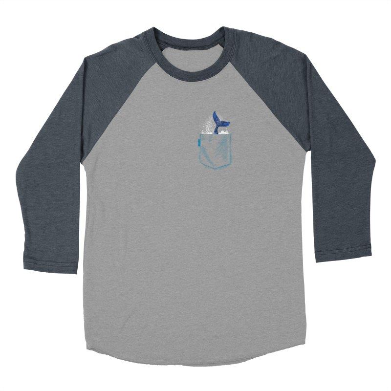 Meanwhale in my pocket Men's Baseball Triblend Longsleeve T-Shirt by kooky love's Artist Shop