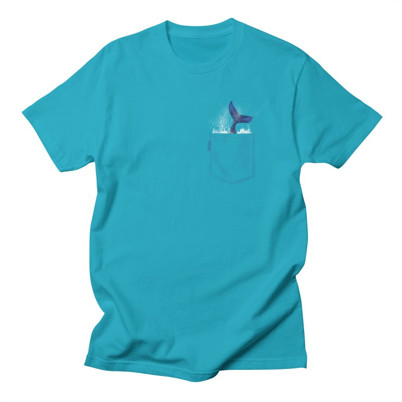Meanwhale in my pocket Men's T-Shirt by kooky love's Artist Shop
