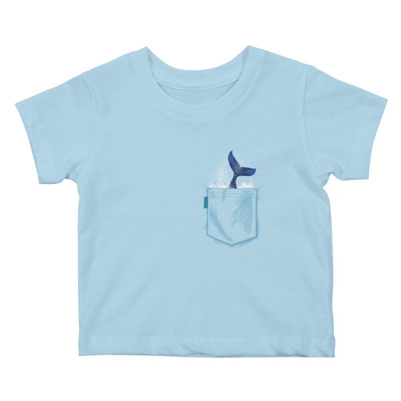 Meanwhale in my pocket Kids Baby T-Shirt by kooky love's Artist Shop