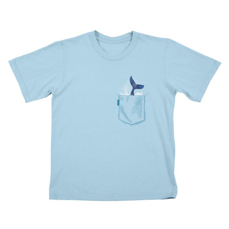 Meanwhale in my pocket Kids T-Shirt by kooky love's Artist Shop