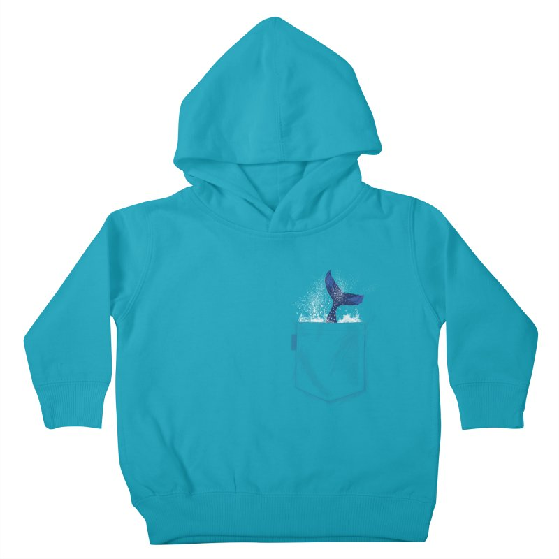 Meanwhale in my pocket Kids Toddler Pullover Hoody by kooky love's Artist Shop