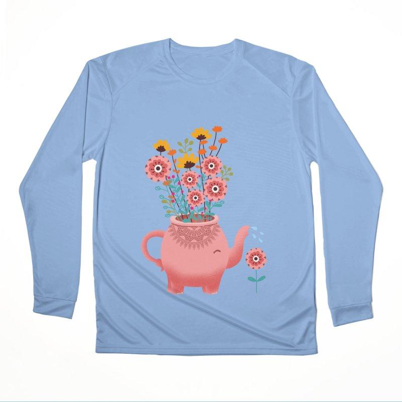 Elephant Flower Men's Performance Longsleeve T-Shirt by kooky love's Artist Shop