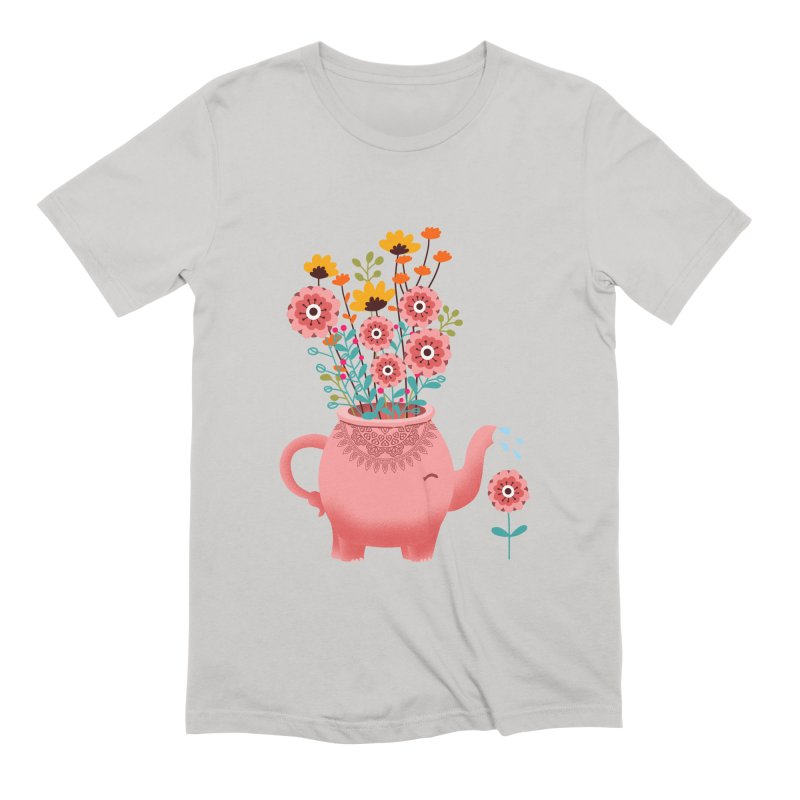 Elephant Flower Men's Extra Soft T-Shirt by kooky love's Artist Shop