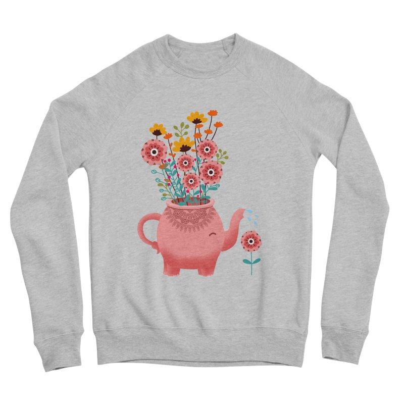 Elephant Flower Women's Sponge Fleece Sweatshirt by kooky love's Artist Shop