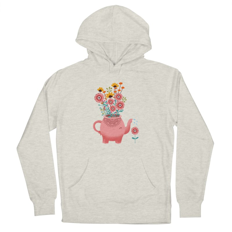 Elephant Flower Women's French Terry Pullover Hoody by kooky love's Artist Shop