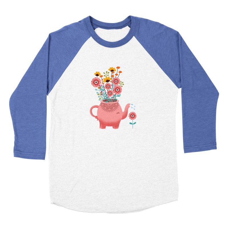 Elephant Flower Men's Baseball Triblend Longsleeve T-Shirt by kooky love's Artist Shop