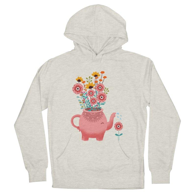 Elephant Flower Women's French Terry Pullover Hoody by kooky love's Artist Shop