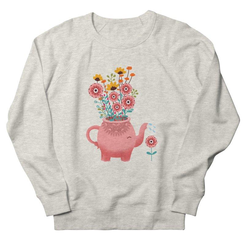 Elephant Flower Women's French Terry Sweatshirt by kooky love's Artist Shop