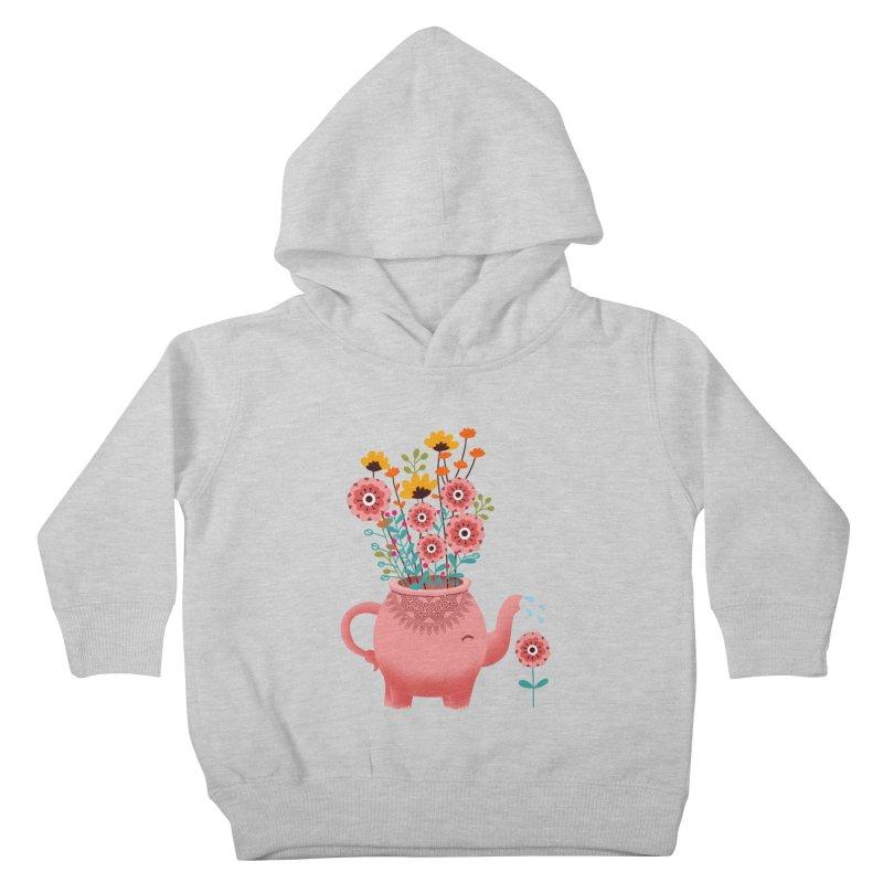 Elephant Flower Kids Toddler Pullover Hoody by kooky love's Artist Shop