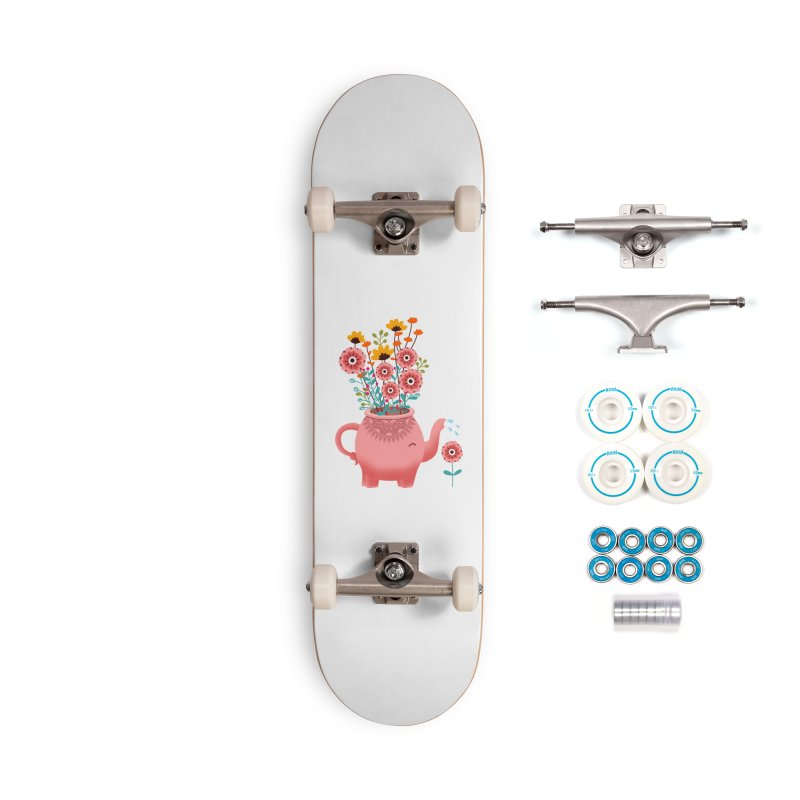 Elephant Flower Accessories Complete - Basic Skateboard by kooky love's Artist Shop