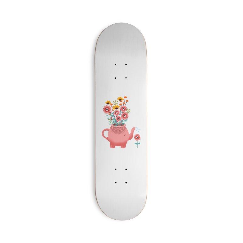 Elephant Flower Accessories Deck Only Skateboard by kooky love's Artist Shop