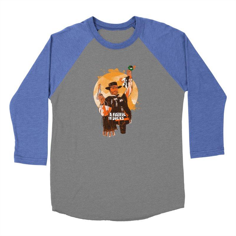 A Fistful of Ducks Men's Baseball Triblend Longsleeve T-Shirt by kooky love's Artist Shop