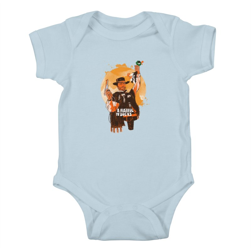 A Fistful of Ducks Kids Baby Bodysuit by kooky love's Artist Shop