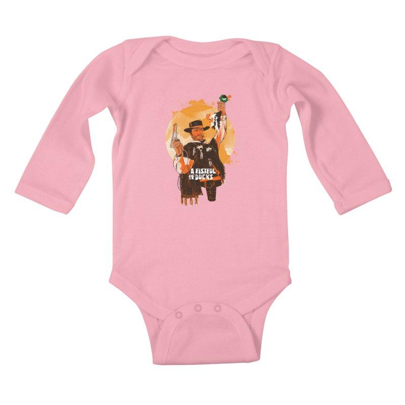 A Fistful of Ducks Kids Baby Longsleeve Bodysuit by kooky love's Artist Shop