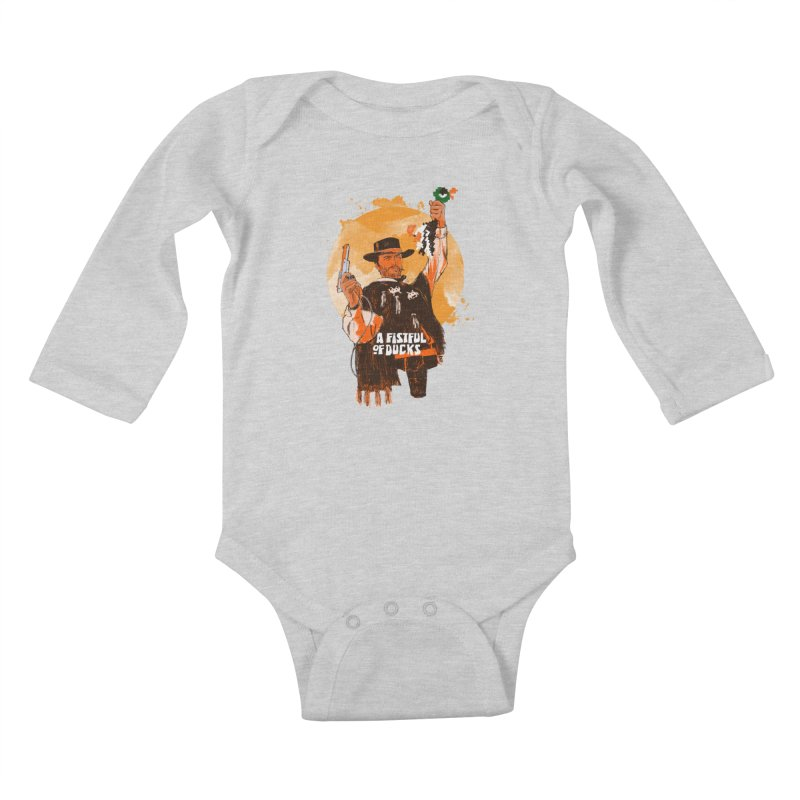 A Fistful of Ducks Kids Baby Longsleeve Bodysuit by kooky love's Artist Shop