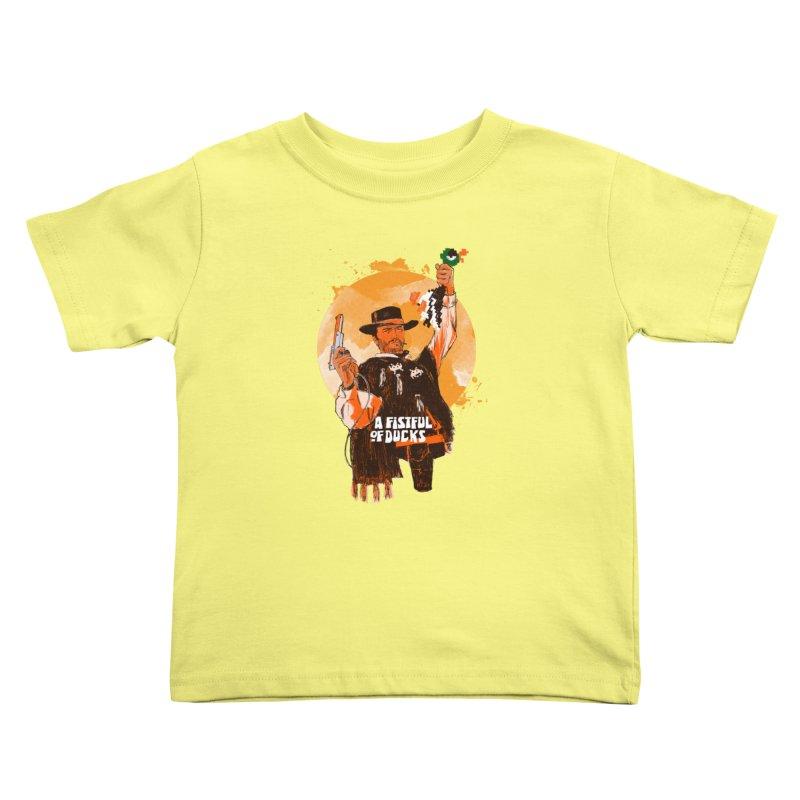 A Fistful of Ducks Kids Toddler T-Shirt by kooky love's Artist Shop