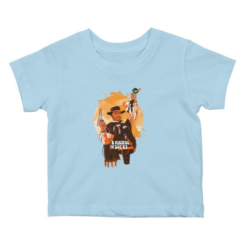 A Fistful of Ducks Kids Baby T-Shirt by kooky love's Artist Shop
