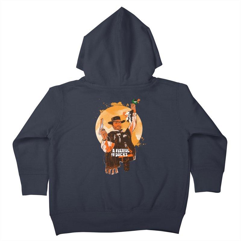 A Fistful of Ducks Kids Toddler Zip-Up Hoody by kooky love's Artist Shop