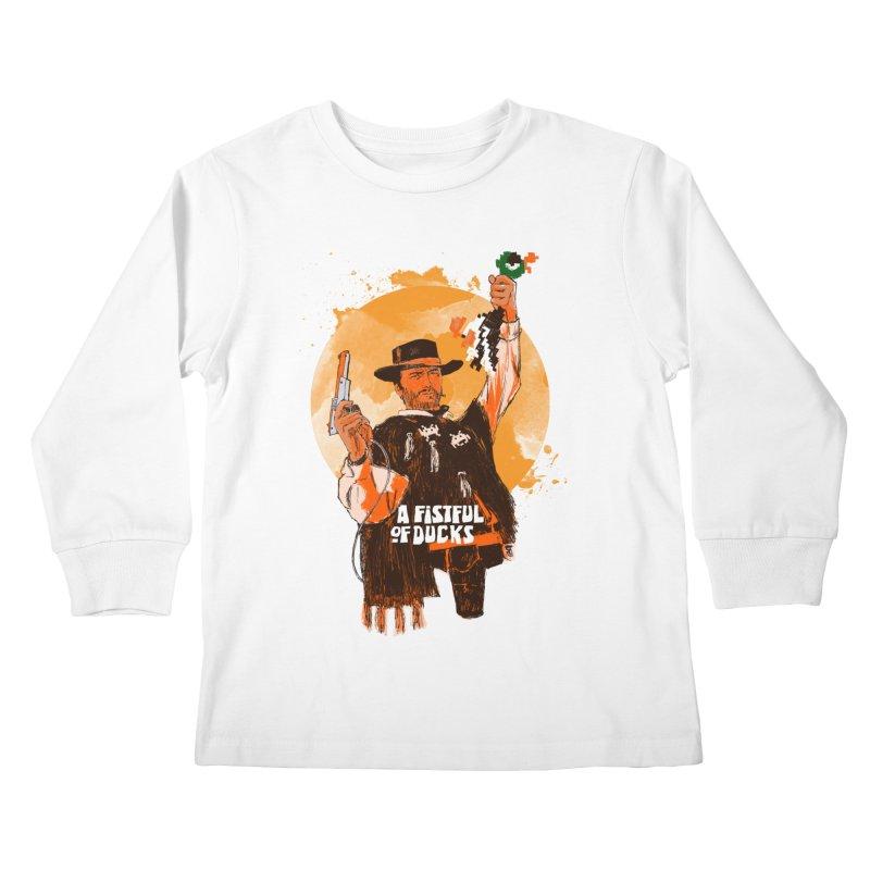A Fistful of Ducks Kids Longsleeve T-Shirt by kooky love's Artist Shop