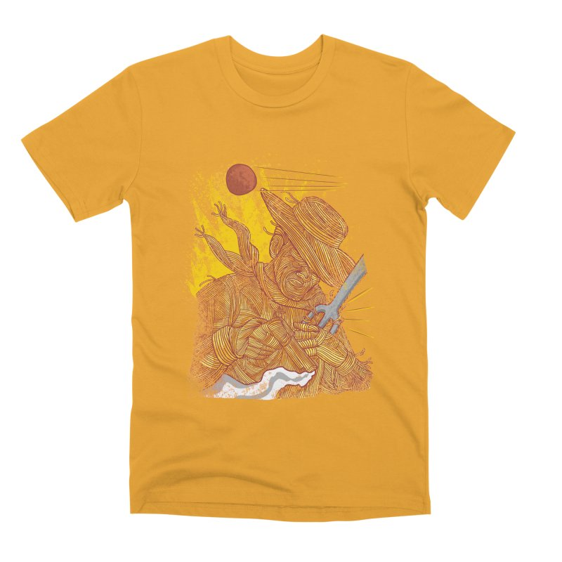 Spaghetti Cowboy Men's Premium T-Shirt by kooky love's Artist Shop
