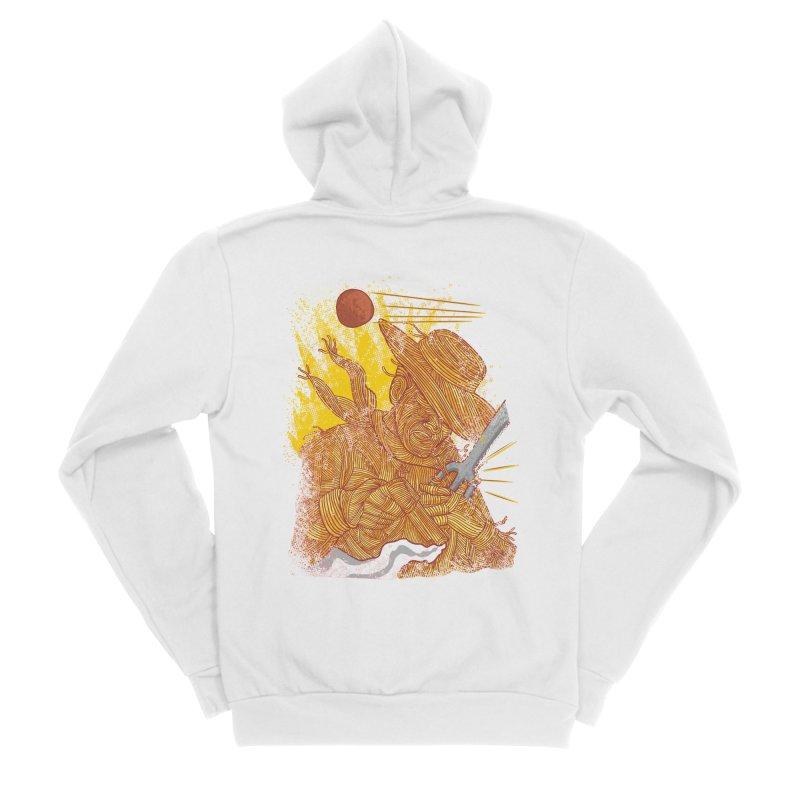 Spaghetti Cowboy Men's Sponge Fleece Zip-Up Hoody by kooky love's Artist Shop