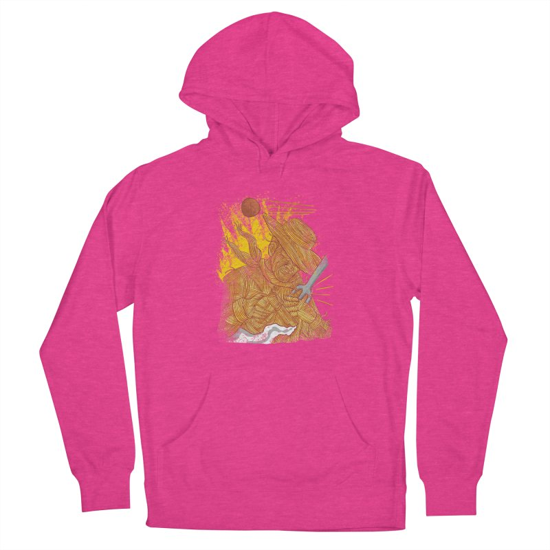 Spaghetti Cowboy Women's French Terry Pullover Hoody by kooky love's Artist Shop