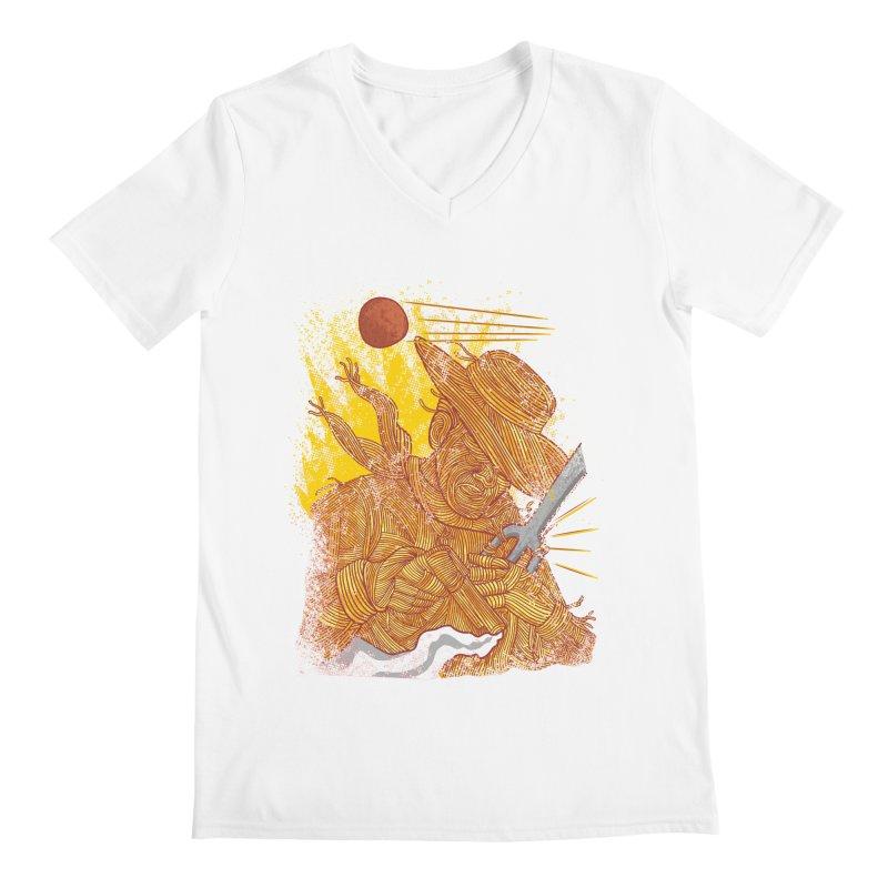 Spaghetti Cowboy Men's Regular V-Neck by kooky love's Artist Shop