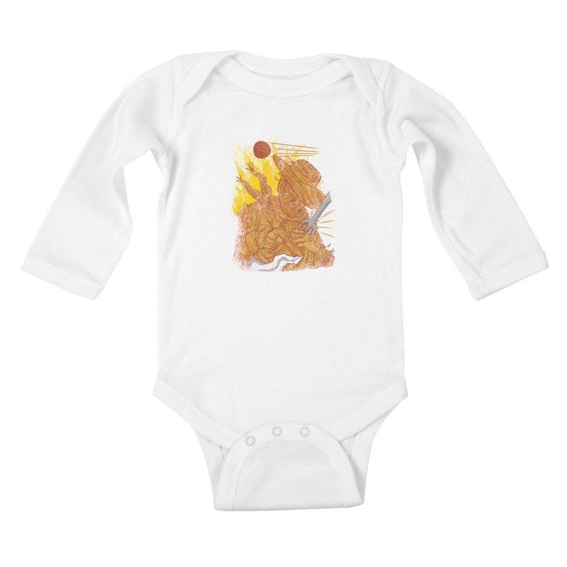 Spaghetti Cowboy Kids Baby Longsleeve Bodysuit by kooky love's Artist Shop