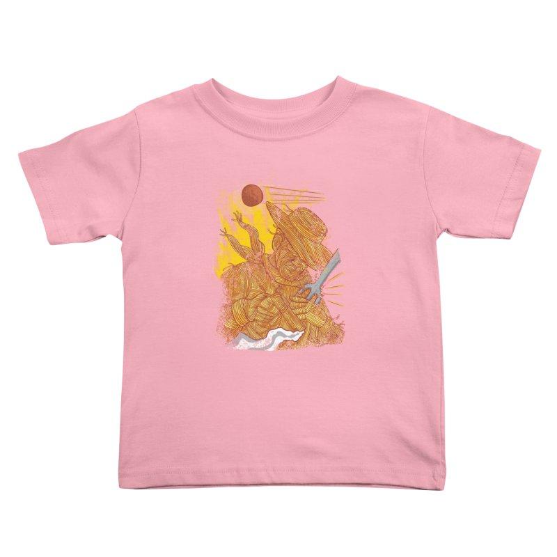 Spaghetti Cowboy Kids Toddler T-Shirt by kooky love's Artist Shop