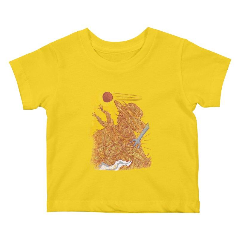 Spaghetti Cowboy Kids Baby T-Shirt by kooky love's Artist Shop