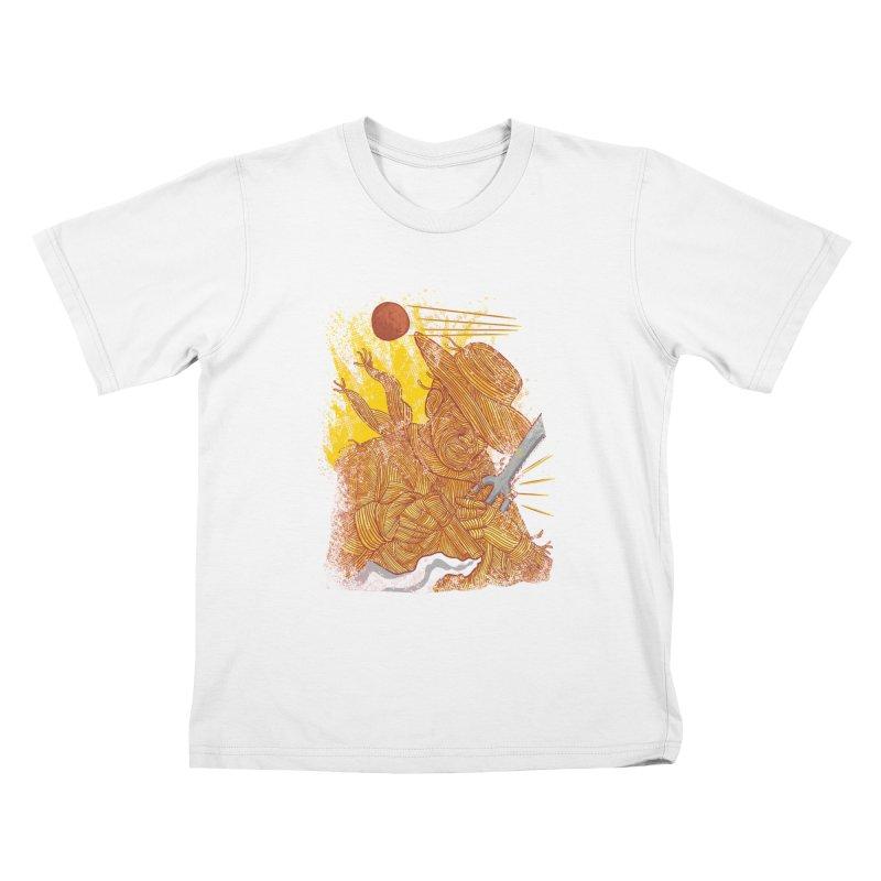 Spaghetti Cowboy Kids T-Shirt by kooky love's Artist Shop