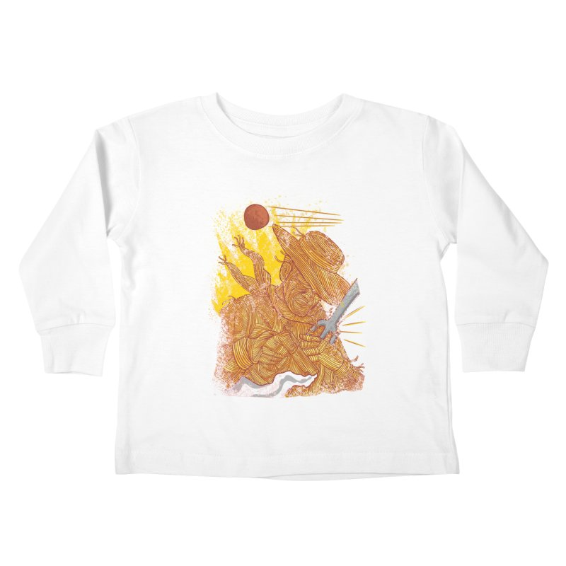 Spaghetti Cowboy Kids Toddler Longsleeve T-Shirt by kooky love's Artist Shop