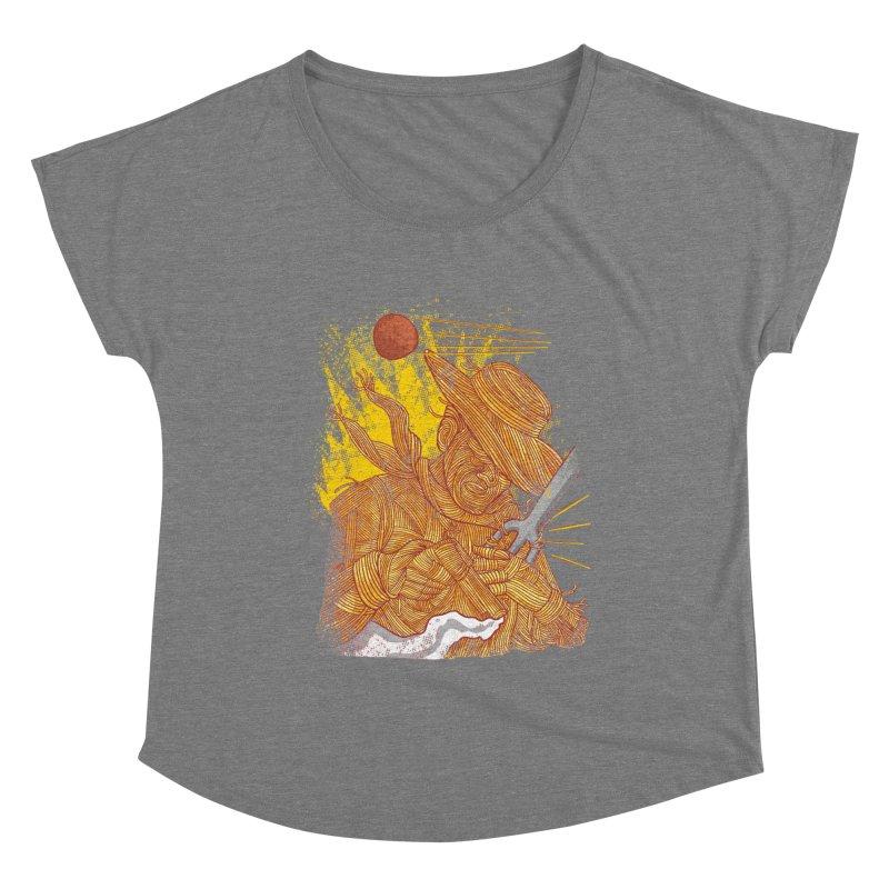 Spaghetti Cowboy Women's Dolman Scoop Neck by kooky love's Artist Shop