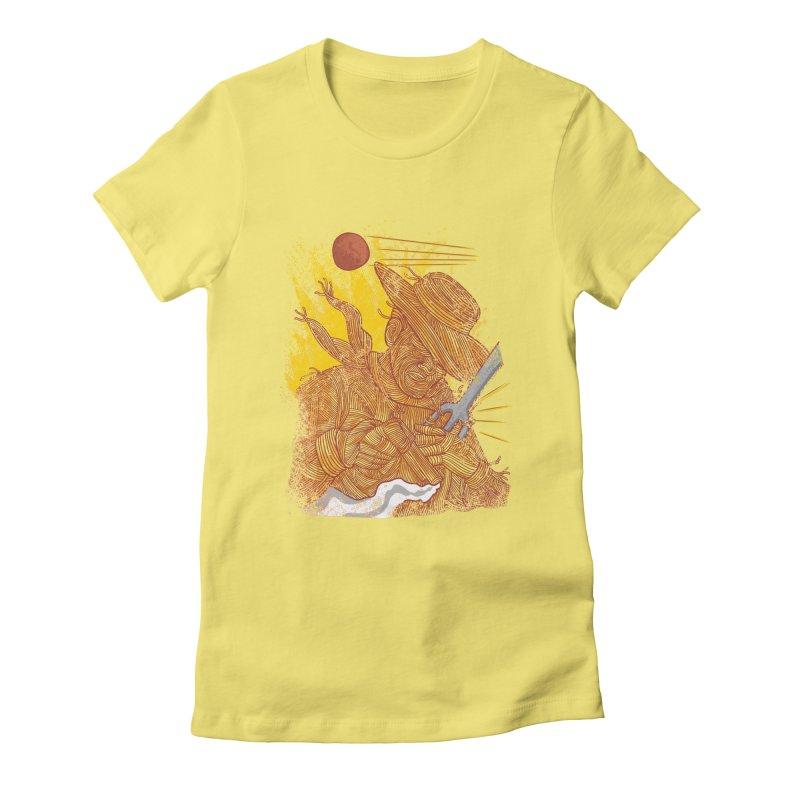 Spaghetti Cowboy Women's Fitted T-Shirt by kooky love's Artist Shop