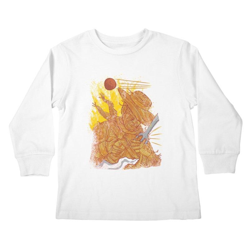 Spaghetti Cowboy Kids Longsleeve T-Shirt by kooky love's Artist Shop