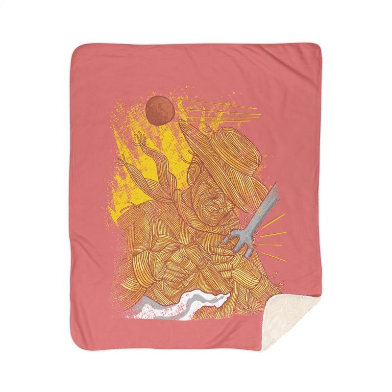 Spaghetti Cowboy Home Sherpa Blanket Blanket by kooky love's Artist Shop