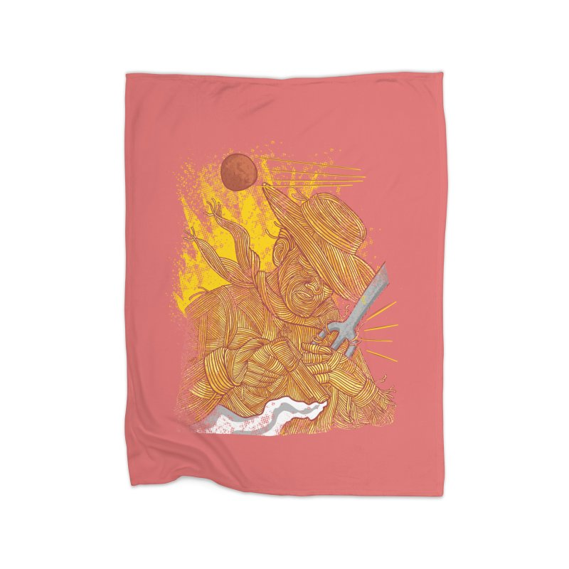 Spaghetti Cowboy Home Fleece Blanket Blanket by kooky love's Artist Shop
