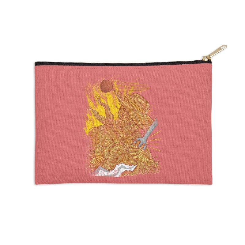 Spaghetti Cowboy Accessories Zip Pouch by kooky love's Artist Shop