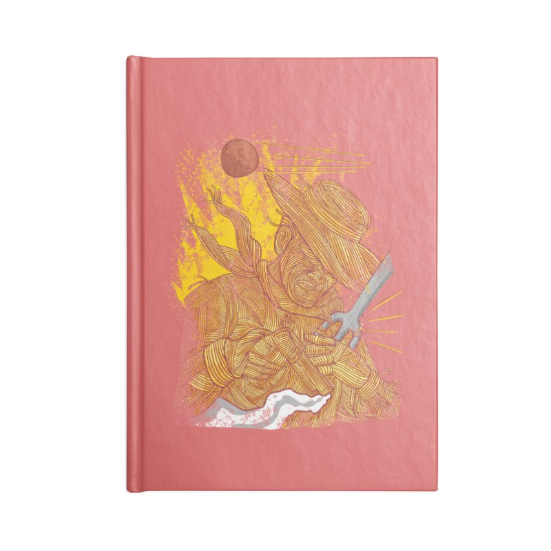 Spaghetti Cowboy Accessories Blank Journal Notebook by kooky love's Artist Shop