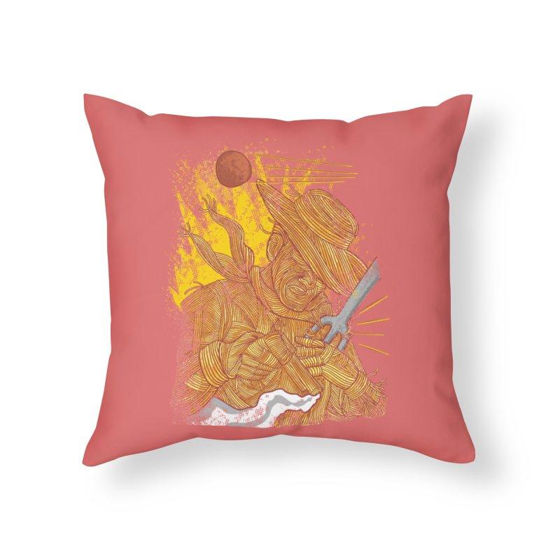 Spaghetti Cowboy Home Throw Pillow by kooky love's Artist Shop