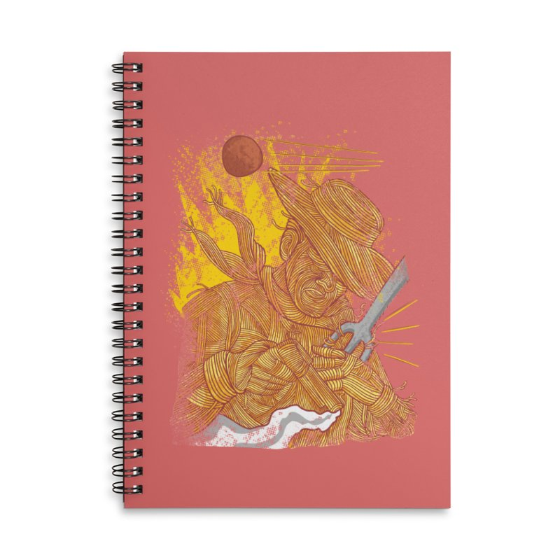 Spaghetti Cowboy Accessories Lined Spiral Notebook by kooky love's Artist Shop