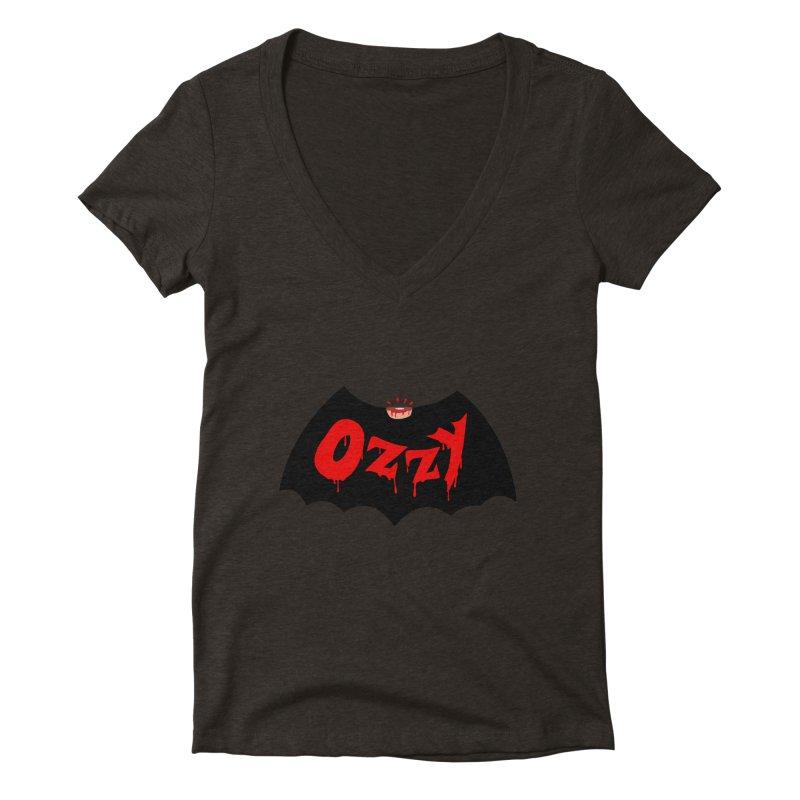 Ozzy Women's Deep V-Neck V-Neck by kooky love's Artist Shop