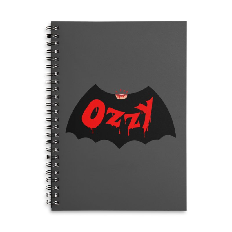 Ozzy Accessories Lined Spiral Notebook by kooky love's Artist Shop