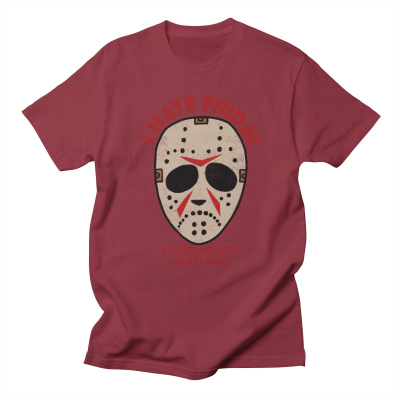 I Hate Friday Men's Regular T-Shirt by kooky love's Artist Shop