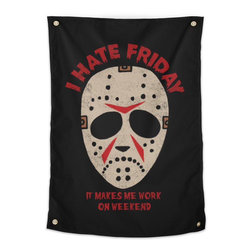 I Hate Friday Home Tapestry by kooky love's Artist Shop