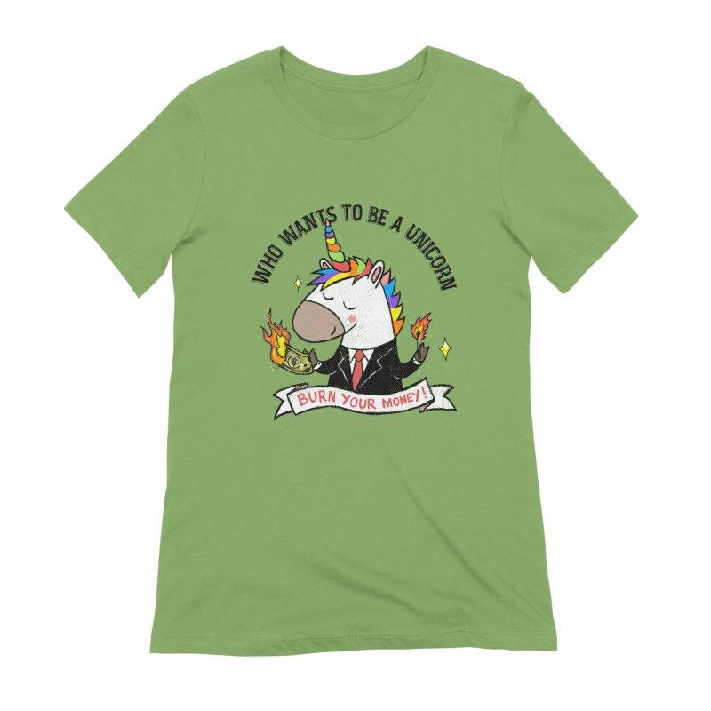 Burning Money Women's Extra Soft T-Shirt by kooky love's Artist Shop