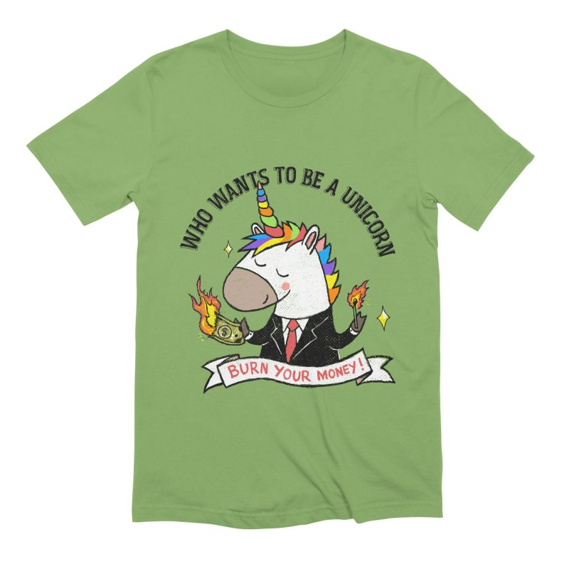 Burning Money Men's Extra Soft T-Shirt by kooky love's Artist Shop