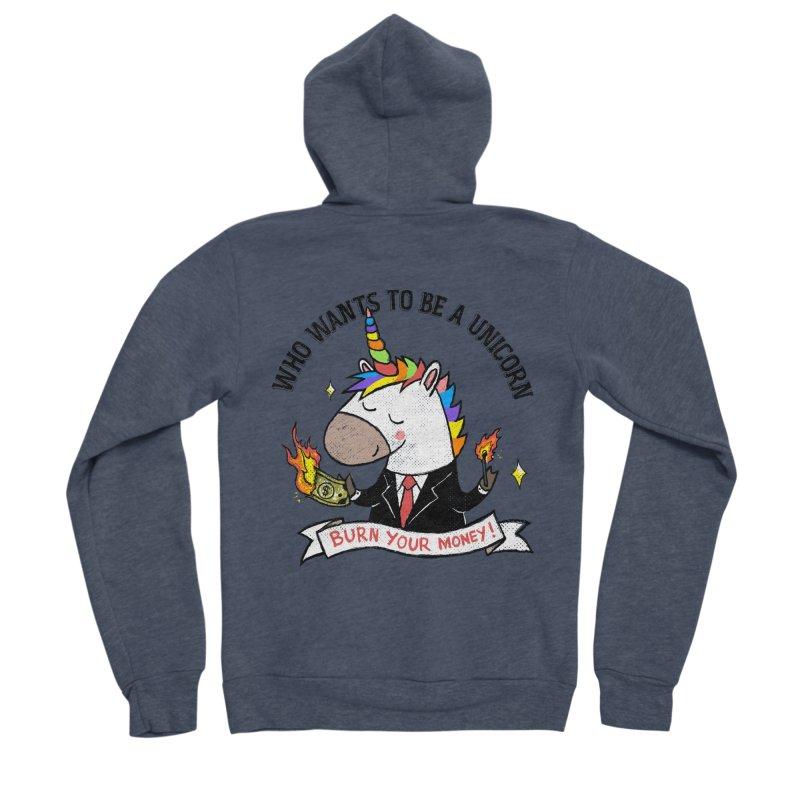 Burning Money Men's Sponge Fleece Zip-Up Hoody by kooky love's Artist Shop